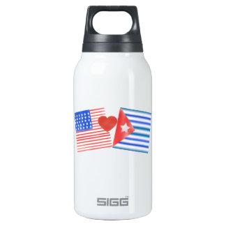 Americano de Vida, cubano del corazón Botella Isotérmica De Agua