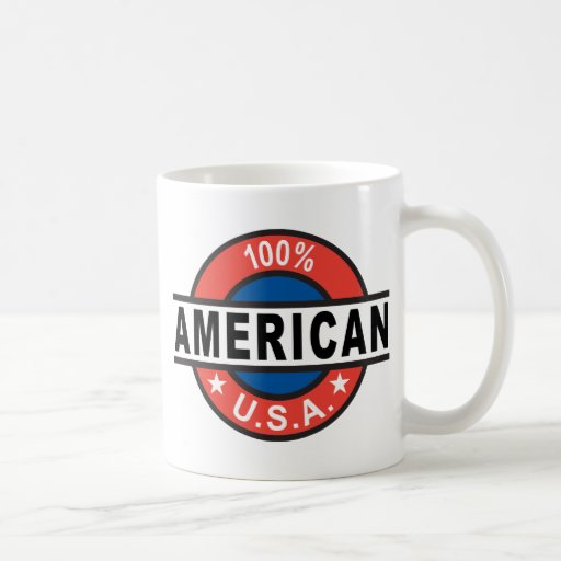 Americano del 100% taza básica blanca