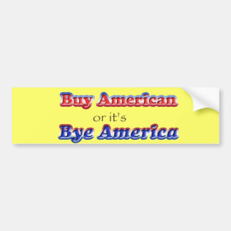 americano del adiós pegatina de parachoque