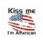 Americano del beso postales