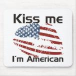 Americano del beso tapetes de ratones