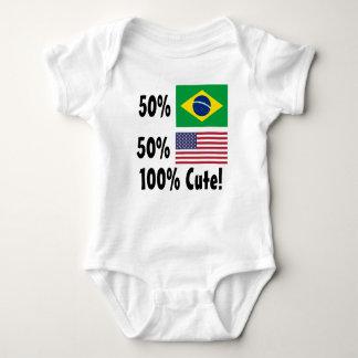 Americano del brasilen@o el 50% del 50% el 100% playeras