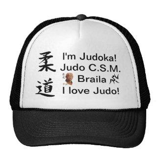 ¡Americano del stil de Sapca soy Judoka! ¡Amo judo Gorras De Camionero