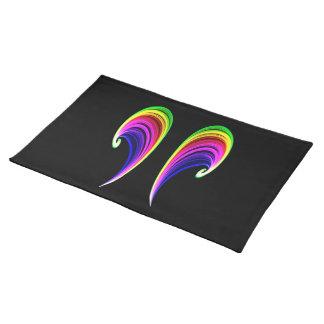 Americano doble MoJo Placemat del arco iris Manteles Individuales