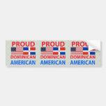 Americano dominicano orgulloso etiqueta de parachoque