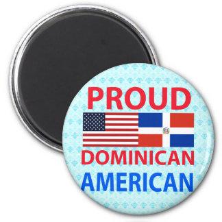 Americano dominicano orgulloso imán de frigorifico