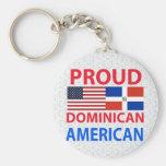 Americano dominicano orgulloso llavero personalizado