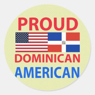 Americano dominicano orgulloso pegatina redonda