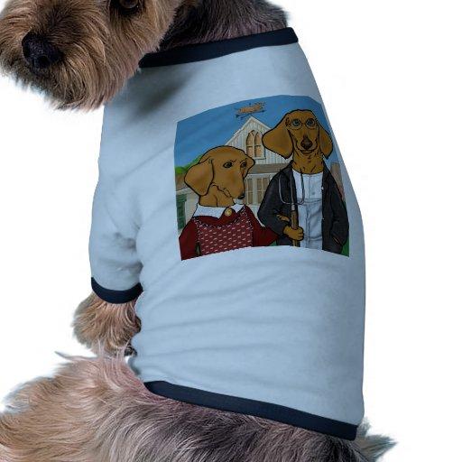 Americano Doxic Camiseta Con Mangas Para Perro