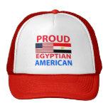 Americano egipcio orgulloso gorro de camionero