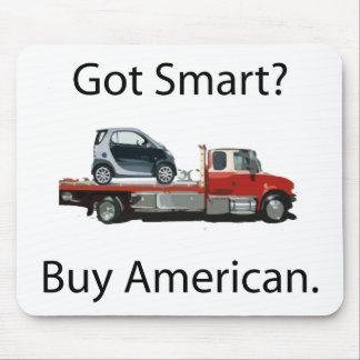 Americano elegante de la compra del coche mouse pads