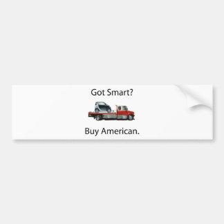 Americano elegante de la compra del coche pegatina para auto