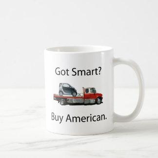 Americano elegante de la compra del coche taza