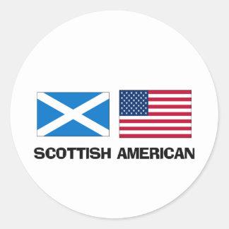 Americano escocés pegatina redonda