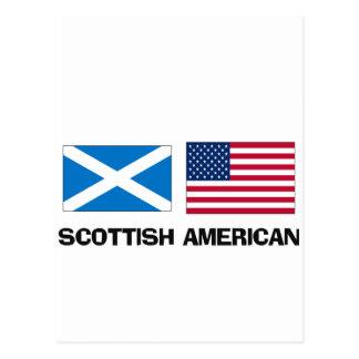 Americano escocés tarjeta postal
