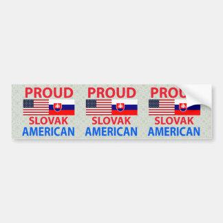 Americano eslovaco orgulloso pegatina de parachoque