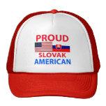 Americano eslovaco orgulloso gorro