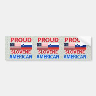 Americano esloveno orgulloso pegatina para auto