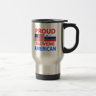 Americano esloveno orgulloso taza de viaje de acero inoxidable