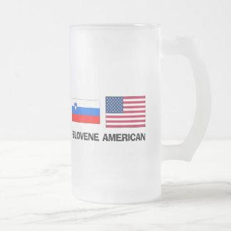 Americano esloveno taza cristal mate