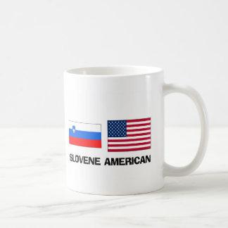 Americano esloveno taza básica blanca