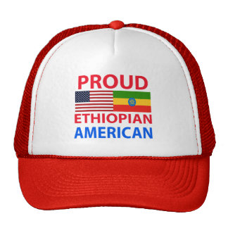 Americano etíope orgulloso gorros bordados