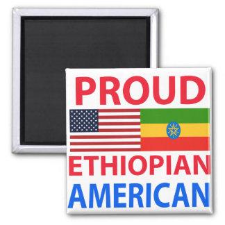 Americano etíope orgulloso imán cuadrado