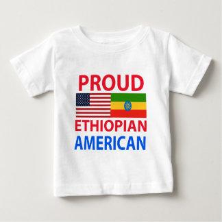 Americano etíope orgulloso playera para bebé