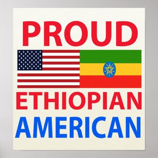 Americano etíope orgulloso póster