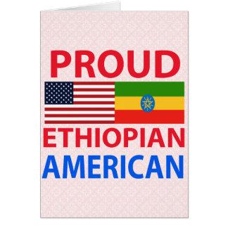 Americano etíope orgulloso tarjeta de felicitación