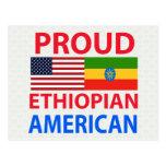 Americano etíope orgulloso tarjeta postal