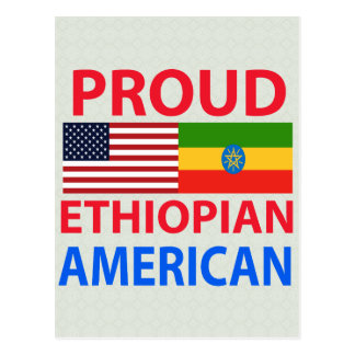 Americano etíope orgulloso tarjetas postales