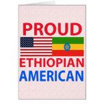 Americano etíope orgulloso tarjeton