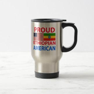 Americano etíope orgulloso taza de viaje
