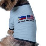 Americano filipino camisetas mascota