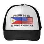 Americano filipino orgulloso gorras de camionero