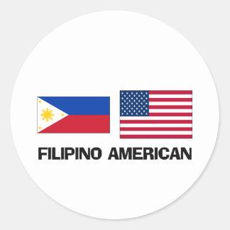 Americano filipino pegatina redonda