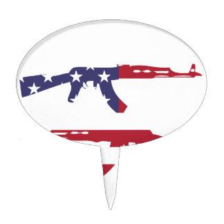 Americano Flag_Guns Decoración Para Tarta