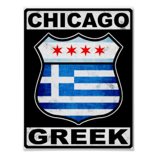 Americano griego de Chicago Póster
