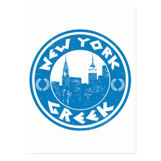 Americano griego de Nueva York Tarjeta Postal