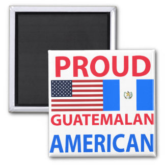 Americano guatemalteco orgulloso imán para frigorífico