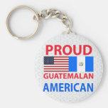 Americano guatemalteco orgulloso llavero personalizado