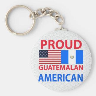 Americano guatemalteco orgulloso llavero redondo tipo pin