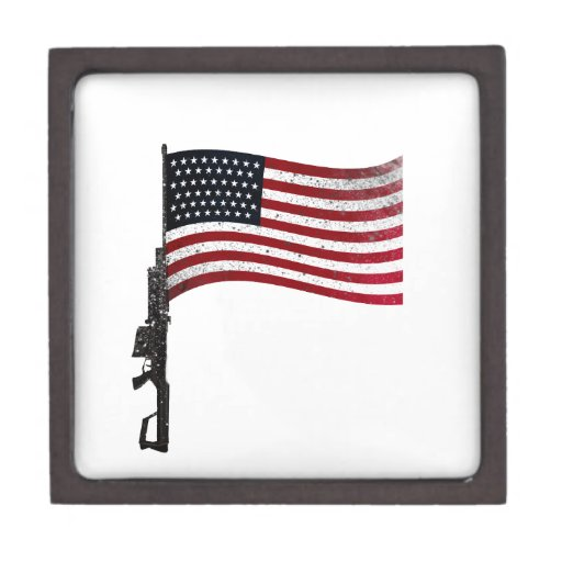 Americano Gunflag Cajas De Regalo De Calidad