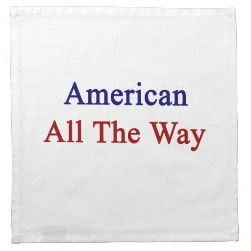 Americano hasta el final servilletas imprimidas