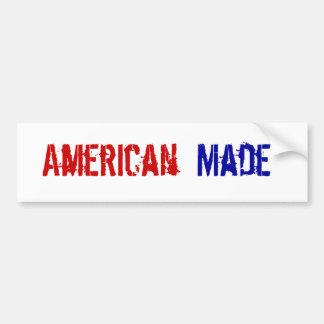 Americano hecho pegatina de parachoque