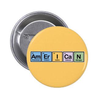 Americano hecho de elementos pin