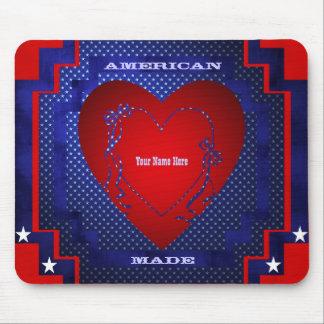 Americano hecho tapete de ratón