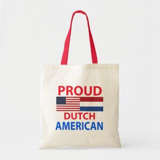 Americano holandés orgulloso bolsa lienzo