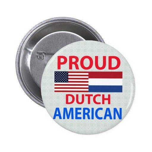 Americano holandés orgulloso pins